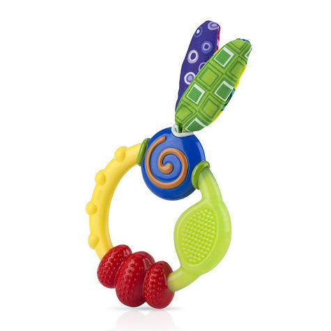 Nuby Babycare Wacky Looney Teething Ring Baby Soothing Teether Infant Toy 3m+ Thumbnail 1