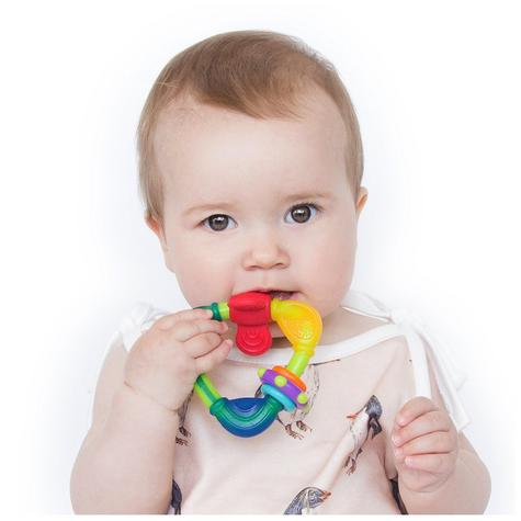 Nuby Baby Teething Nontoxic Movable Fun Spin Colourful Teether Infant Toy 3m+ Thumbnail 3