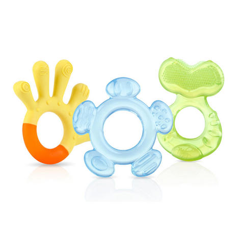 Nuby Baby 3 Step Teething Gel Soothing Teether Toy Set  Baby Infant 3m+ in Mix Thumbnail 2