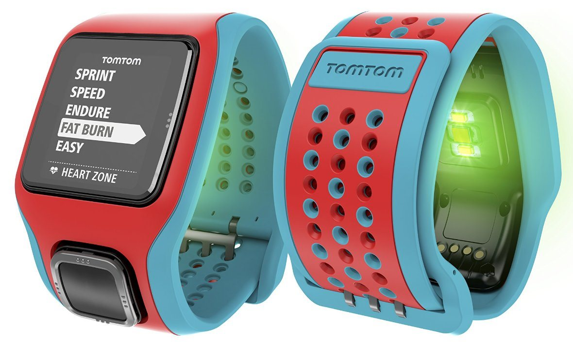 TomTom Runner Cardio GPS Strapless HRM Heart Rate Speed ...