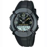 Casio Gents Resin Digital & Analogue Combi Sports World Time Watch HDC-600-1BVES