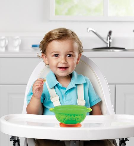 Nuby Baby Non-Slip Food Seal Tight Stackable Suction Toddler Feeding Bowls 2Pack Thumbnail 4