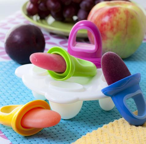 Nuby Baby Garden Fresh Frozen Popsicle Purees Ice Fruitsicles Moulds kid teether Thumbnail 5