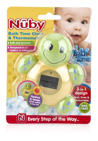 NUBY Baby 3 IN 1 Bath Time Floating Digital Thermometer Clock & Timer Kid's Toys Thumbnail 2