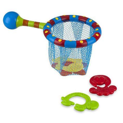 Nuby Splash n' Catch Fishing Net Baby Bath Time Fun Toddler Toy Set BPA Free Thumbnail 2