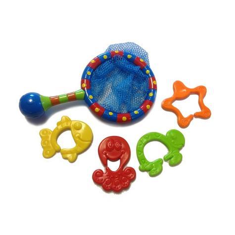 Nuby Splash n' Catch Fishing Net Baby Bath Time Fun Toddler Toy Set BPA Free Thumbnail 3