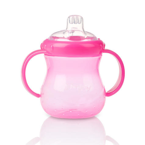 Nuby Baby Easy Grip N Sip Toddler Non Spill Silicone Spout Leak Proof 240ml Cup Thumbnail 2