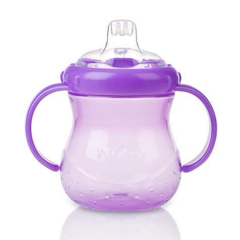 Nuby Baby Easy Grip N Sip Toddler Non Spill Silicone Spout Leak Proof 240ml Cup Thumbnail 6
