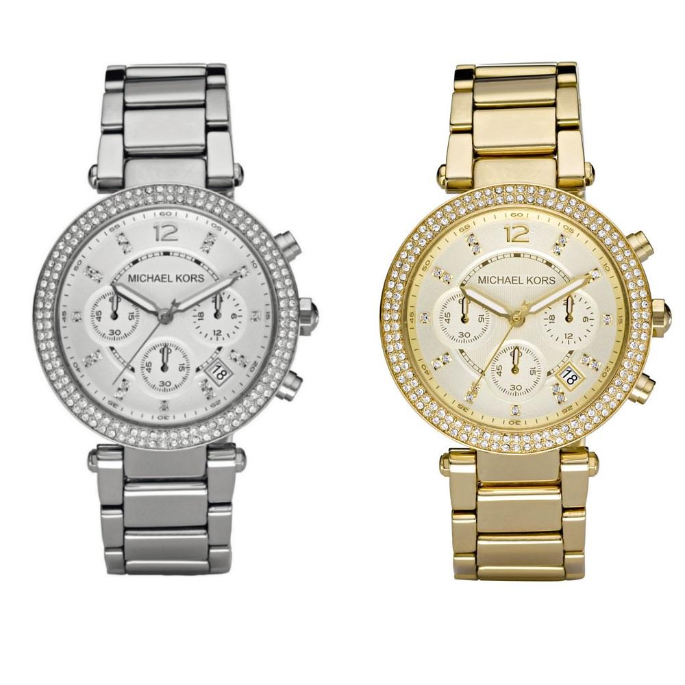 michael kors stainless steel chronograph