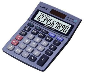 Casio MS100 Desk Calculator Solar Powered Currency Converter & VAT Large Display Thumbnail 1