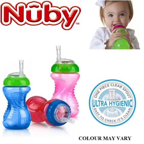 Nuby Baby Flexi Slicone Straw Toddler Non Spill Leak Proof 300ml Beaker Cup 12m+ Thumbnail 1