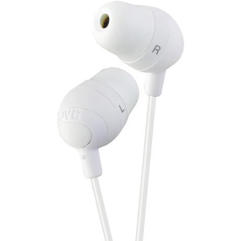 JVC Marshmallow Stereo Comfortable Memory Foam In Ear Earphones White HA-FX32-W Thumbnail 1