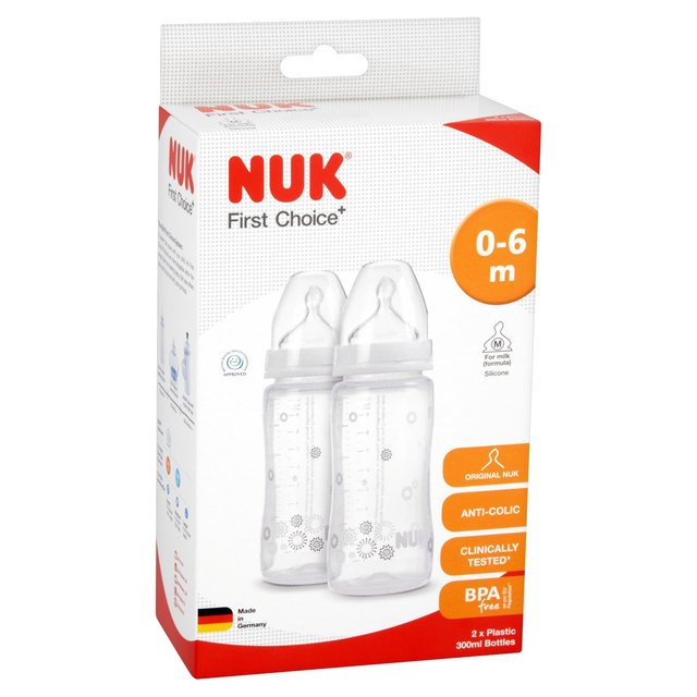 Nuk Baby First Choice Plus Infant Formula Ainti-Colic Bottle silicone Teat 300ml