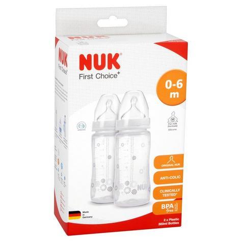 Nuk Baby First Choice Plus Infant Formula Ainti-Colic Bottle silicone Teat 300ml Thumbnail 1