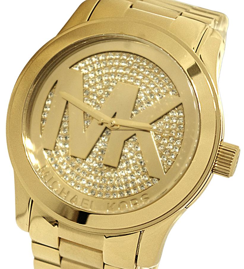 Michael Kors Women S Runway Gold Crystal Pave Ladies Watch