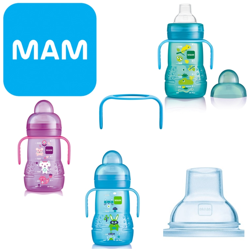 Mam Baby Formula Feeding Trainer Spill-proof Non-Slip Bottle  220ml BPA Free 4+
