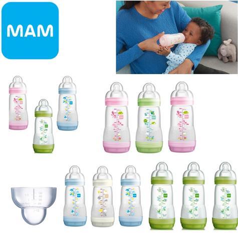 Mam Baby Formula Feeding Self Sterilising Anti-Colic Infant Bottle 260ml 3 Pack  Thumbnail 1