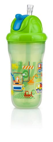 Nuby Toddler Easy Sip Non-Spill Insulted Decorative Flip It Travel Beaker 270ml Thumbnail 5