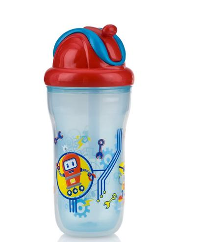 Nuby Toddler Easy Sip Non-Spill Insulted Decorative Flip It Travel Beaker 270ml Thumbnail 3