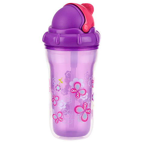 Nuby Toddler Easy Sip Non-Spill Insulted Decorative Flip It Travel Beaker 270ml Thumbnail 4