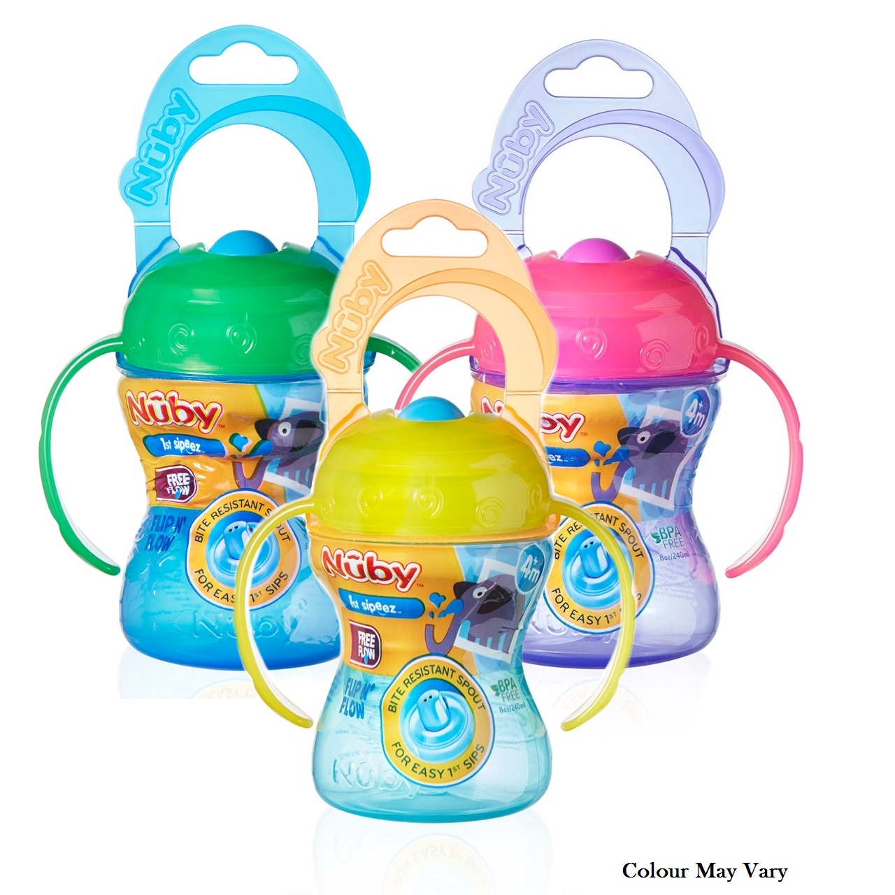 Nuby Baby Easy-Grip Handle Non-Spill Flip N Flow Infant Training Cup +4 Months