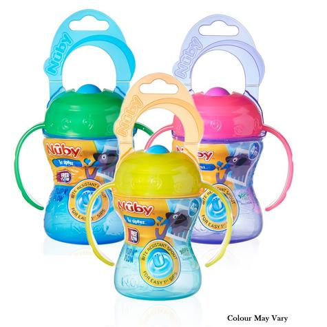 Nuby Baby Easy-Grip Handle Non-Spill Flip N Flow Infant Training Cup +4 Months Thumbnail 1
