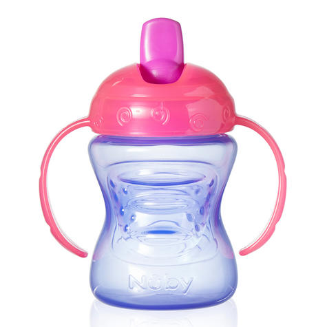 Nuby Baby Easy-Grip Handle Non-Spill Flip N Flow Infant Training Cup +4 Months Thumbnail 4