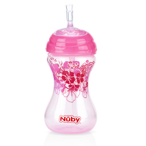 Nuby Children Easy Sip Non-Spill Flexi Straw Designer Series Toddler Cup 300ml Thumbnail 3
