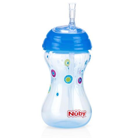 Nuby Children Easy Sip Non-Spill Flexi Straw Designer Series Toddler Cup 300ml Thumbnail 4