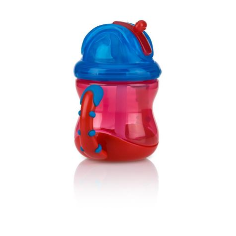 Nuby Baby Flip N Sip Two Easy-grip Handle Silicone Straw Training Cup 240ml +6 Thumbnail 4