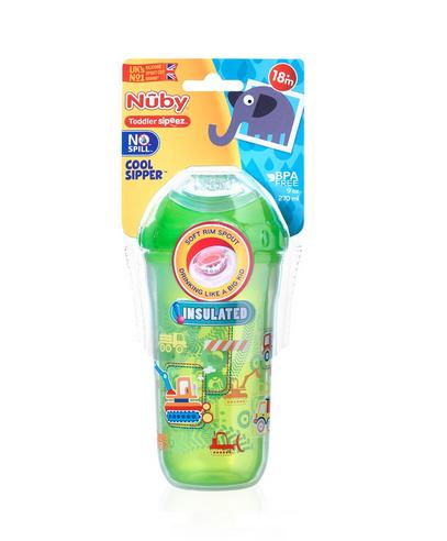Nuby Kids Easy Cool Insulated Sipper Spout No-Spill Toddler 270ml Cup +18m Thumbnail 4