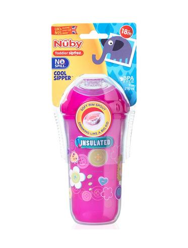 Nuby Kids Easy Cool Insulated Sipper Spout No-Spill Toddler 270ml Cup +18m Thumbnail 6