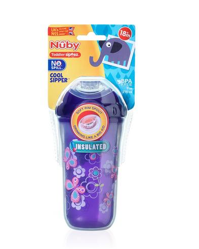 Nuby Kids Easy Cool Insulated Sipper Spout No-Spill Toddler 270ml Cup +18m Thumbnail 8