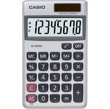 Casio SL300SV Handheld Pocket Calculator  Solar Powered VAT Function