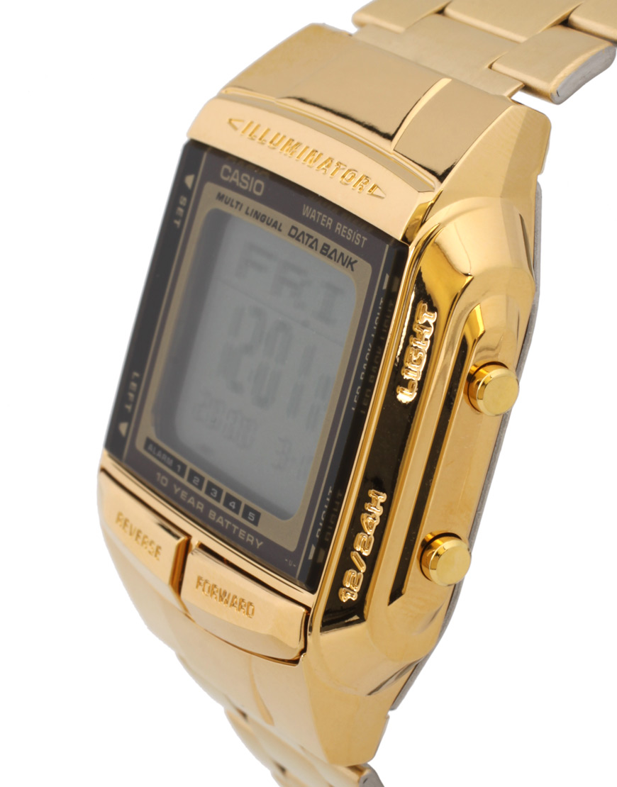 casio mens databank db 360 retro gold digital db