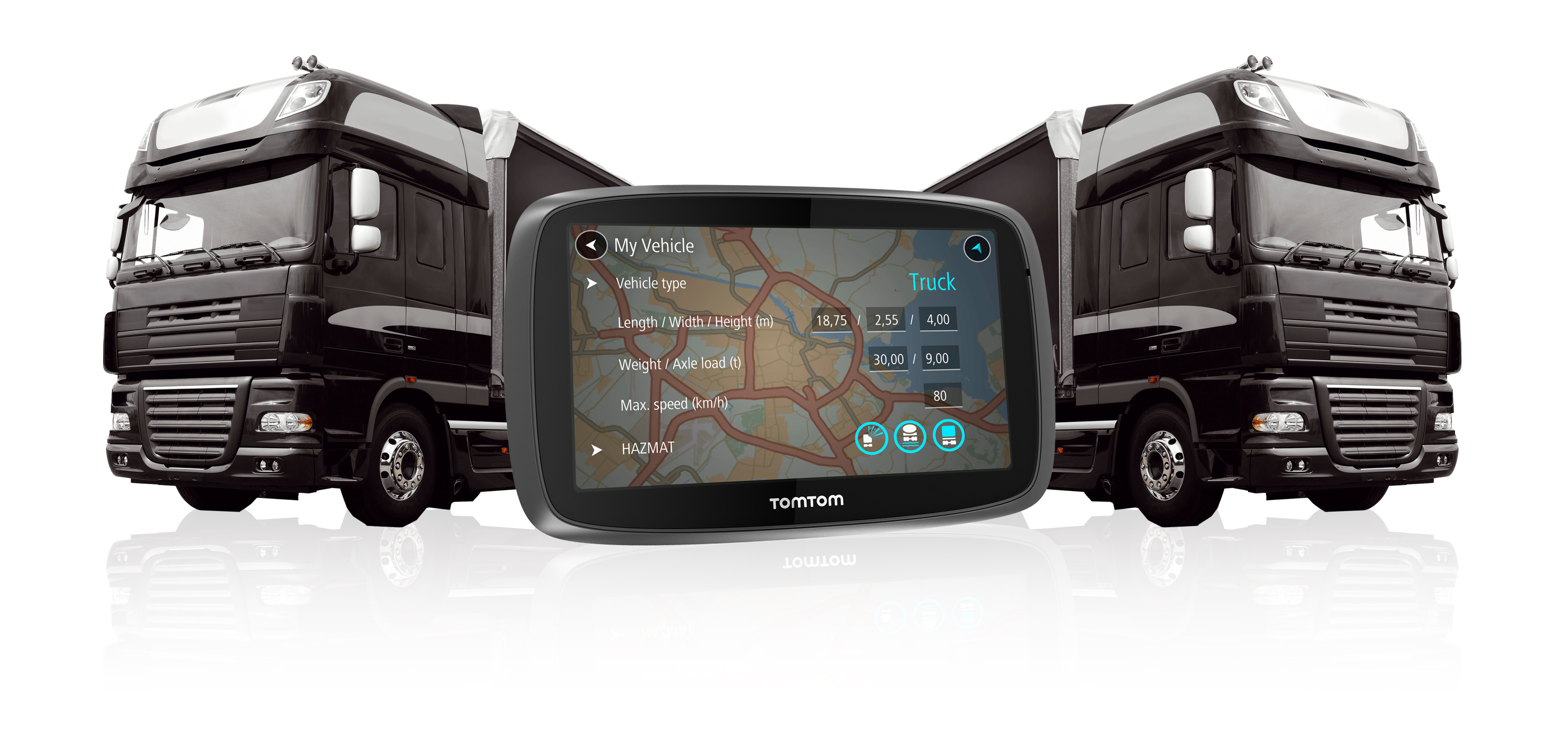 tomtom camionneur 5000 5 gps satnav camions poids lourds. Black Bedroom Furniture Sets. Home Design Ideas