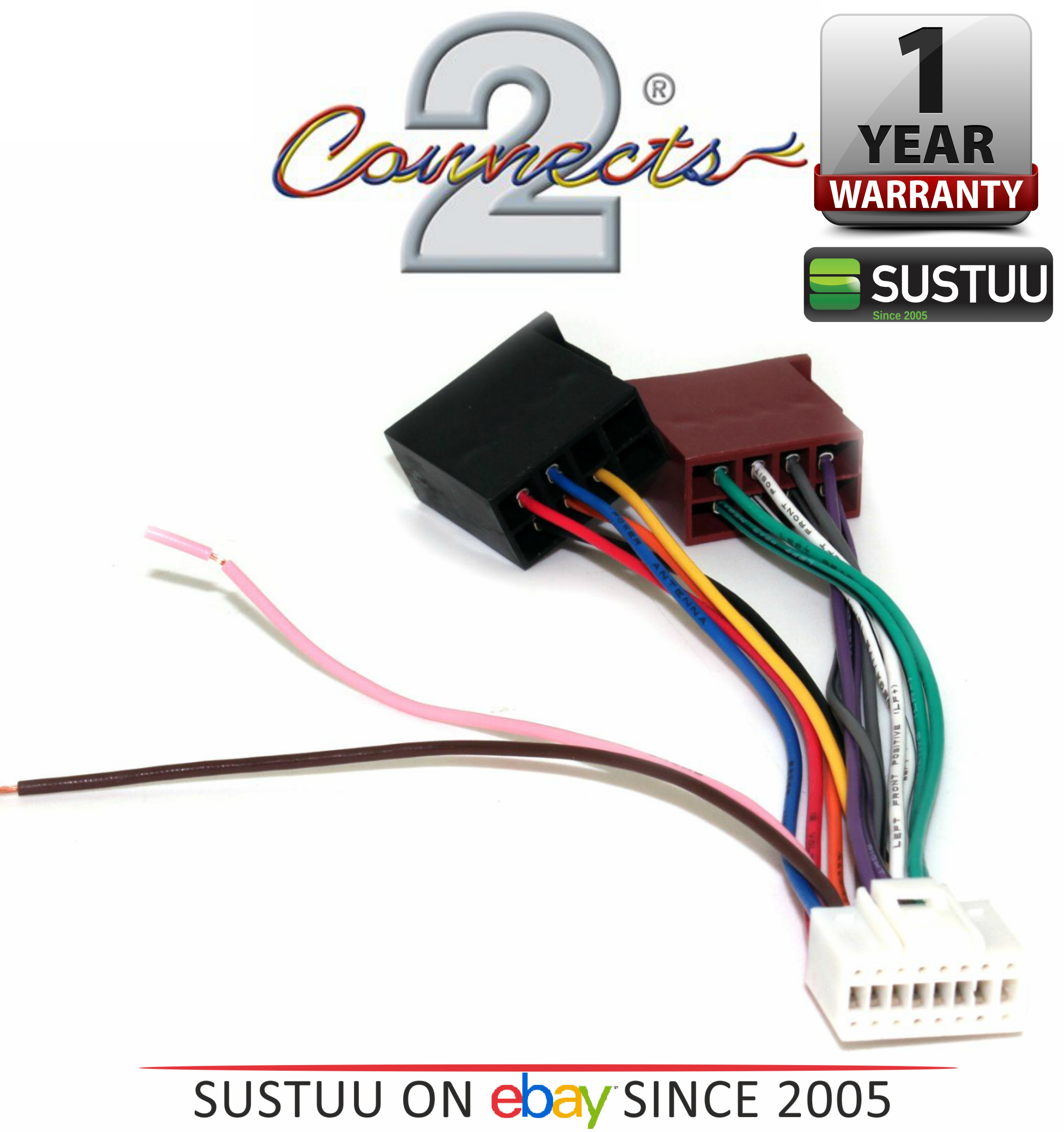 C2 21al02 Car Stereo Radio Wiring Harness Lead Cable Fits