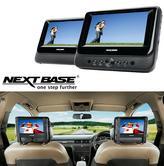 "Nextbase 7""Twin Screen Portable Tablet DVD USB/SD Headphone Jack BuiltIn Speaker"