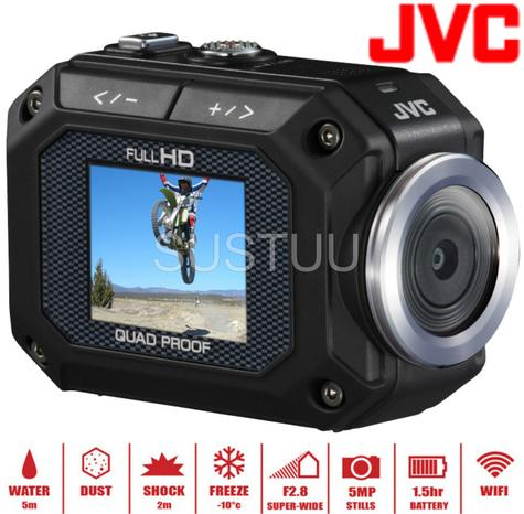 "JVC Action Camera 1.5"" 1080 HD Built In WIFI 5m Waterproof Dustproof Freezeproof Thumbnail 1"