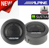 "100%Warranty Alpine SXE 1006TW 1"" 3cm Car & Van Dome Tweeter Speaker 280 Watts"