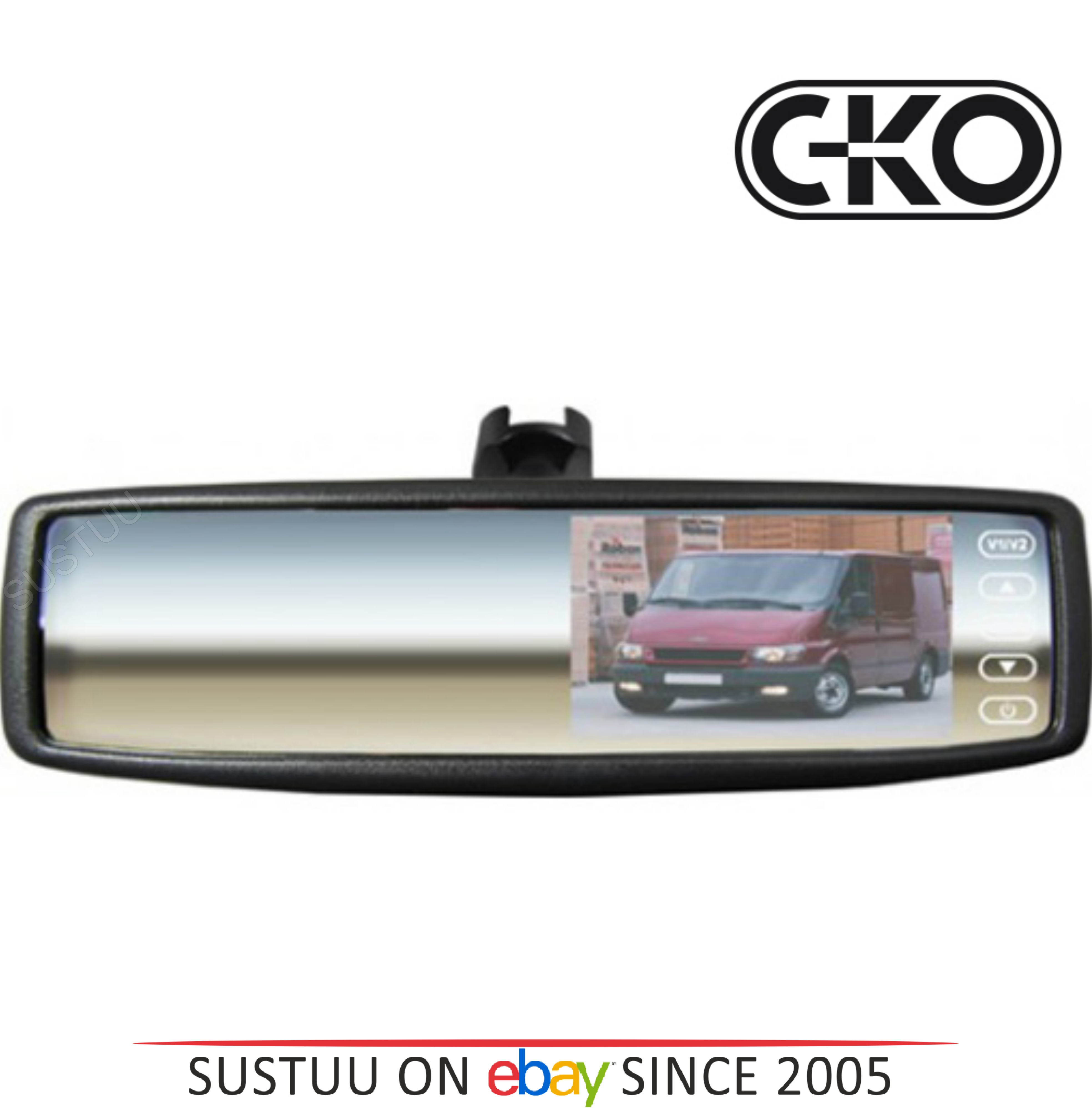 "CKO Mirror Monitor - Mirror + Parking Monitor / Back Rear View Screen 4.3"" - TC0"
