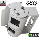 CKO CA9898 Body Mount Dual Lens White Camera With Night Vision LEDs NEW