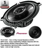 Pioneer TS-G1332i Powerful 13cm 2-Way Coaxial Car Speakers G Series 240 Watt NEW