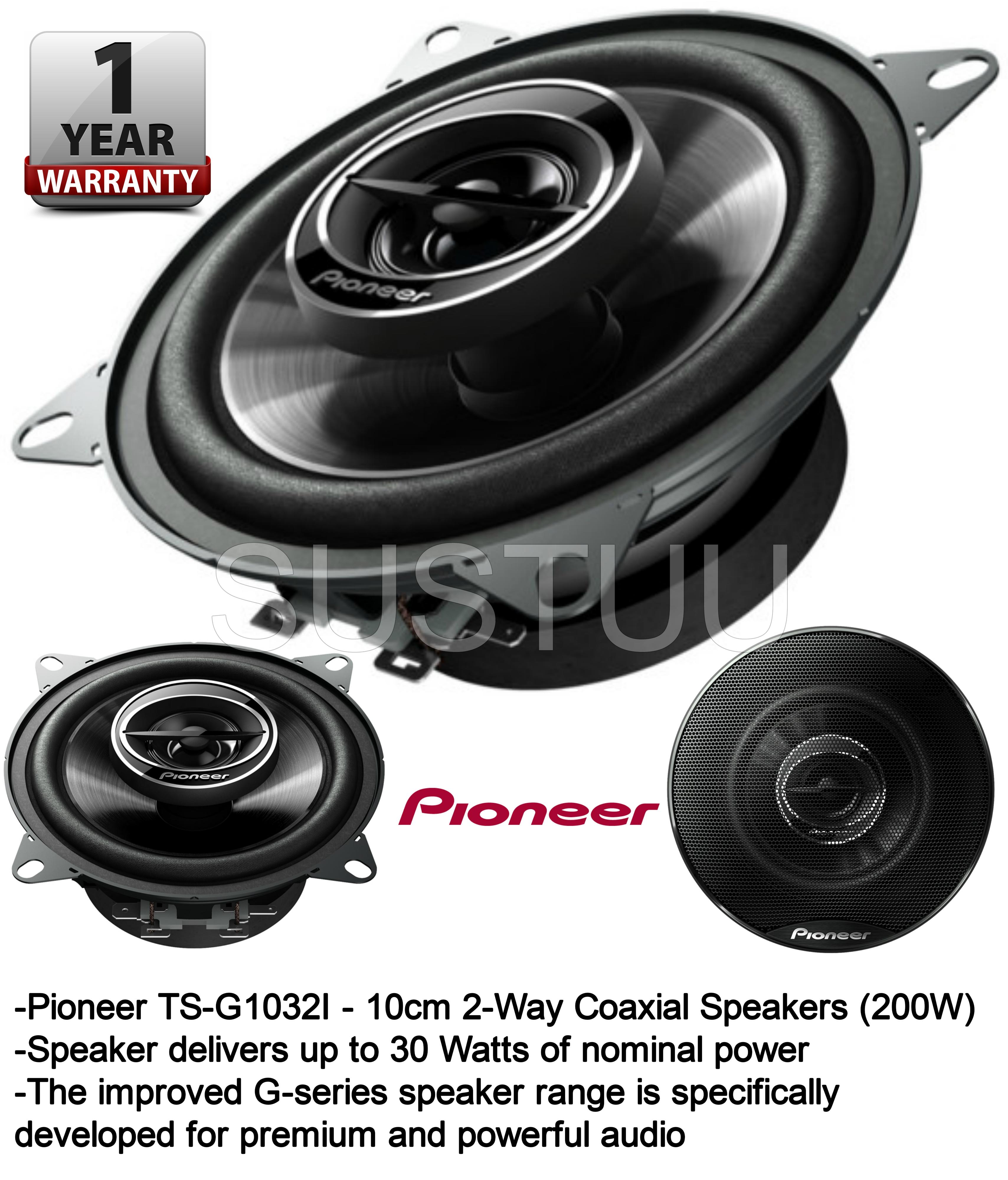 pioneer ts g1032i 4 zoll 100mm 10cm 2 weg koaxial auto. Black Bedroom Furniture Sets. Home Design Ideas