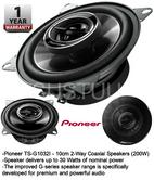 "PIONEER TS-G1032i 4"" Inch 100mm 10cm 2-Way Coaxial Car Door Speakers, 200 Watt"