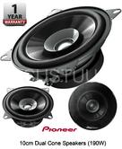 "NEW PIONEER TS-G1031i 4"" 10cm 2-Way Dual Cone Coaxial Car Speakers with 190 Watt"