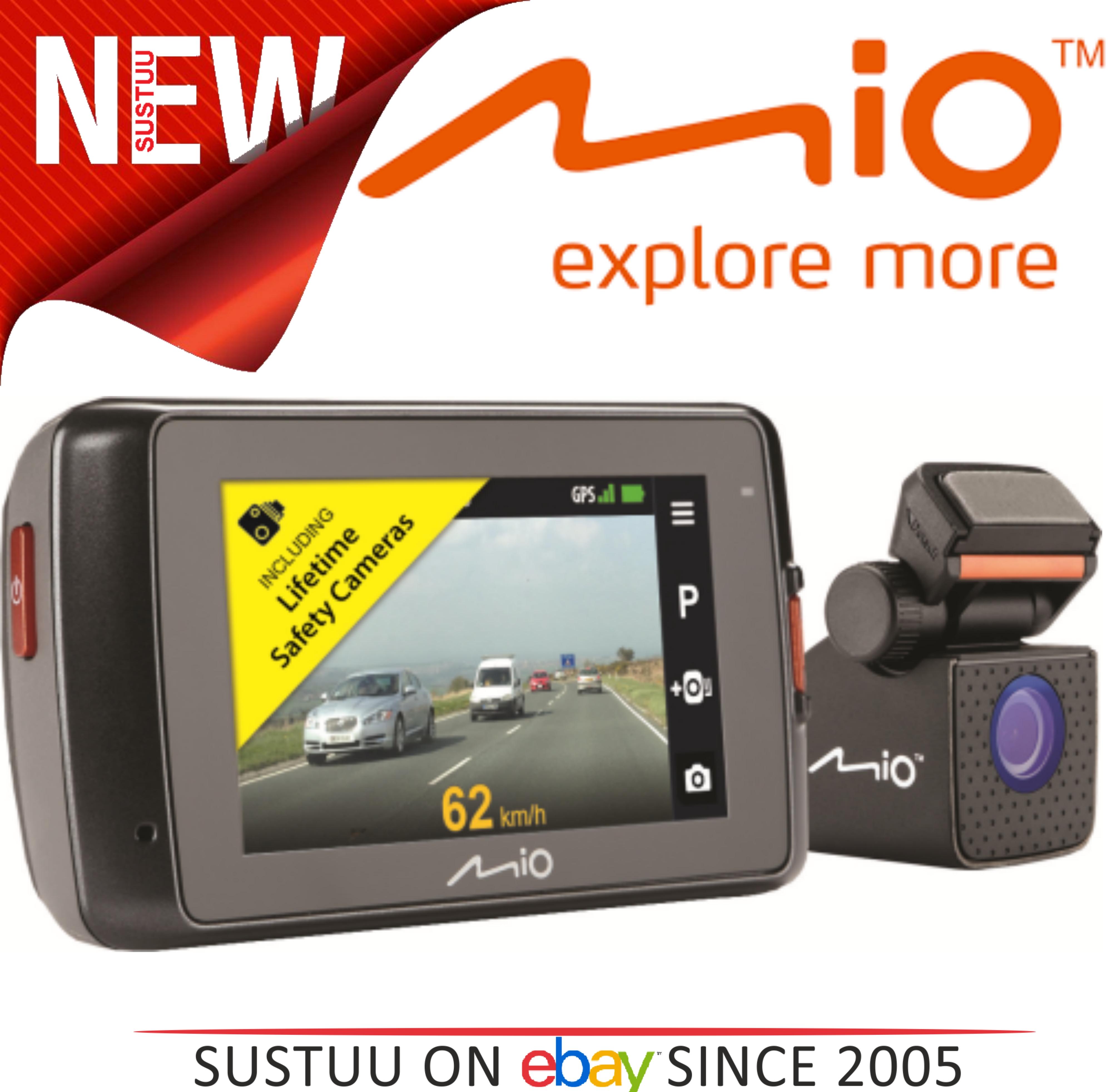 "MIO MIVUE 698 Dual?2.7"" DVR?SuperHD Front-Rear Dash Camera?GPS?Accident Recorder"