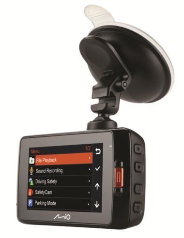 "MIO MIVUE 698 Dual?2.7"" DVR?SuperHD Front-Rear Dash Camera?GPS?Accident Recorder Thumbnail 4"