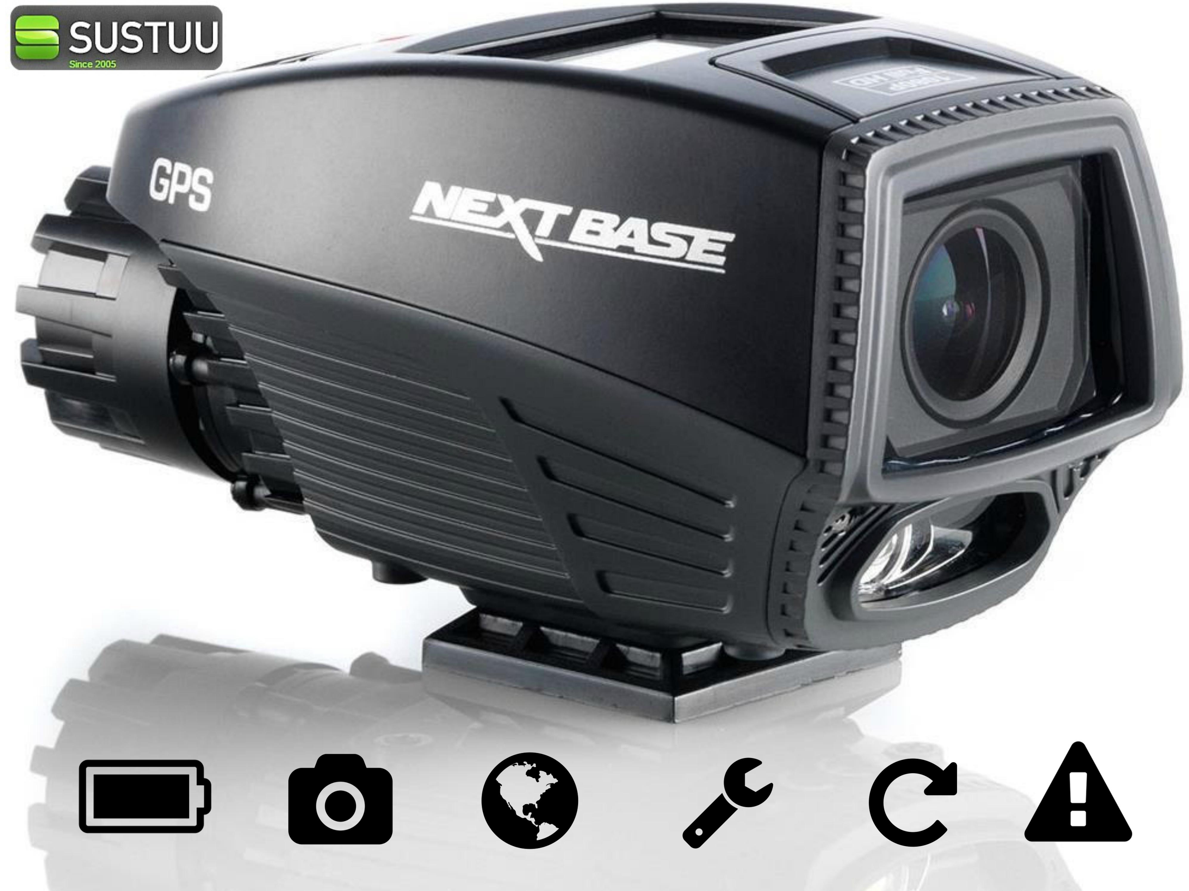 """Nextbase Ride Motorcycle 1.5"""" Bike Cam Video Camera GPS HD 1080P IPx6 Waterproof"""