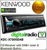 Kenwood KDC-X7000DAB CD DAB+ Tuner MP3 FLAC USB Bluetooth iPod Android Aerial